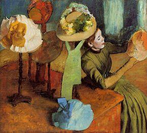 Chez la modiste / In de hoedenwinkel (1884–1890) - Edgar Degas