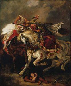 Combat du Giaour et du Pacha / Het gevecht van Giaour en Pasja (1835) - Eugène Delacroix