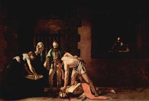 De onthoofding van Johannes de Doper / Decollazione di San Giovanni Battista (1608) - Caravaggio