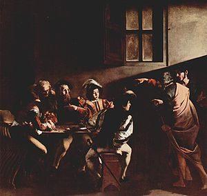 De roeping van Matteüs / Vocazione di san Matteo (circa 1599-1600) - Caravaggio