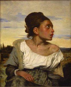 Jeune orpheline au cimetière / Jong weesmeisje op het kerkhof - Eugène Delacroix (1823 - 1824)