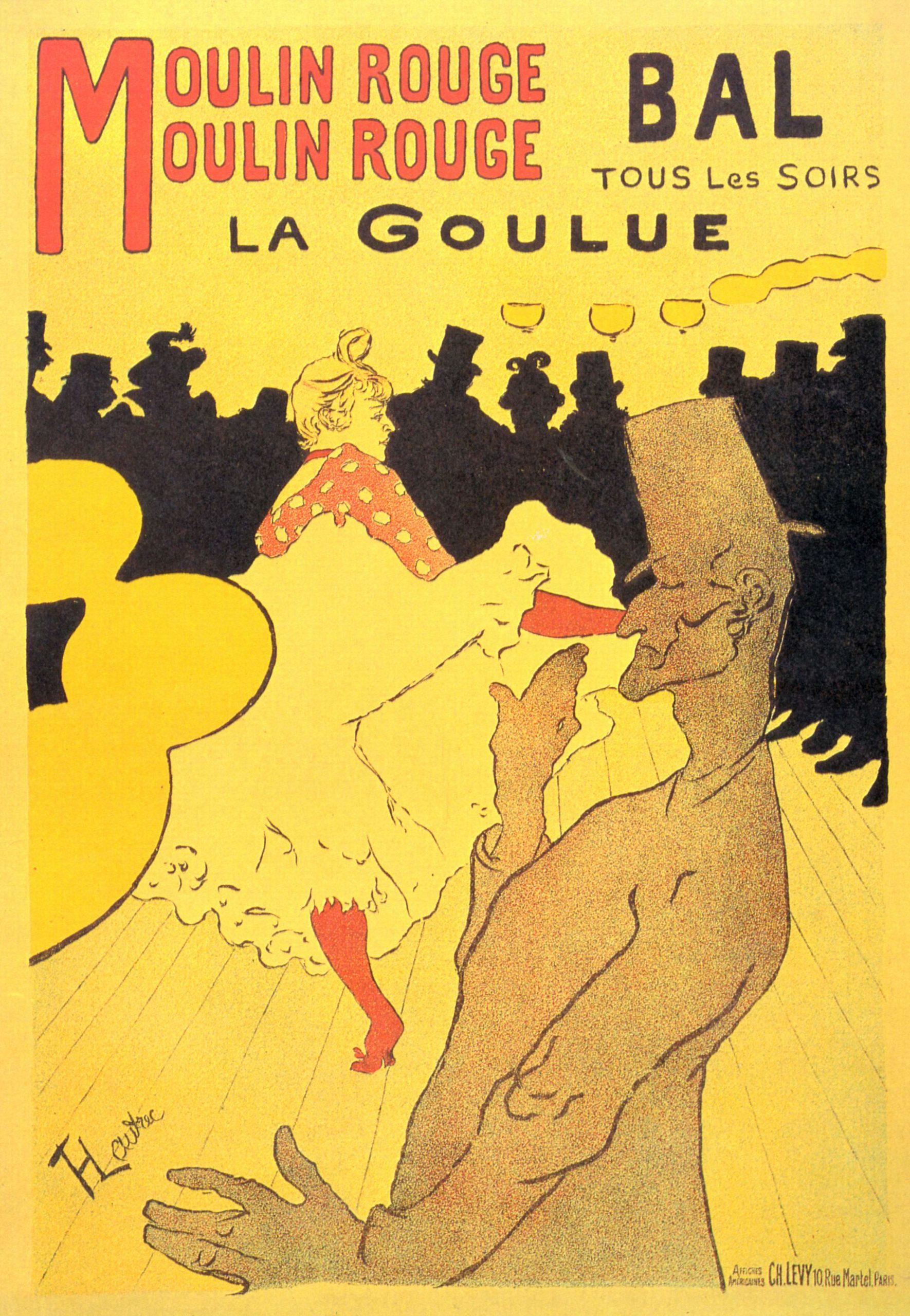 Moulin Rouge: La Goulue (1891) - Henri de Toulouse-Lautrec