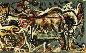 The She Wolf (1943) - Jackson Pollock