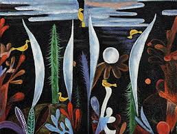 Landschaft mit gelb Vögel (1923) - Paul Klee