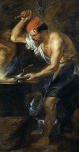 Vulcanus geschilderd door Peter Paul Rubens.
