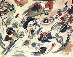 First abstract watercolor (1910) - Wassily Kandinsky