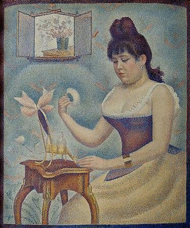 Jeune femme se poudrant (1890) - Georges Seurat