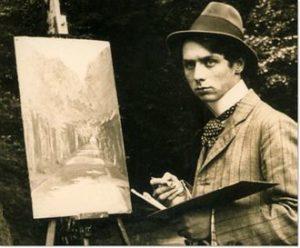 Max Ernst in het Brühler Schlosspark, 1909