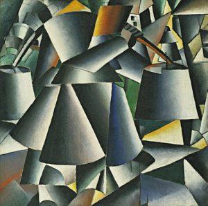 Woman with Pails: Dynamic Arrangement (1912-13) - Kazimir Malevich