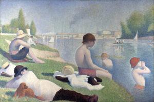 Une Baignade, Asnières / Baders bij Asnières (1884) - Georges Seurat