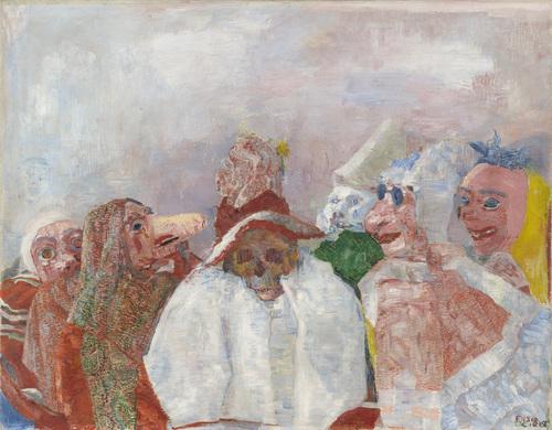 Maskers die de dood confronteren (1888) - James Ensor