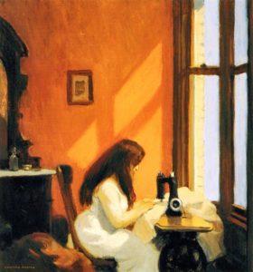 Girl at a Sewing Machine (1921) - Edward Hopper
