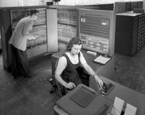 IBM 704 mainframe at NACA in 1957
