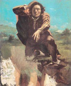 L'homme rendu fou de peur / Man gek van angst (1844) - Gustave Courbet
