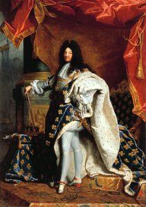 Lodewijk XIV, geportretteerd door Hyacinthe Rigaud (1701)