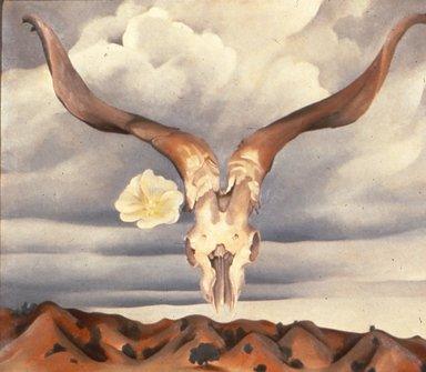 Ram's Head White Hollyhock and Little Hills (1935) - Georgia O'Keeffe
