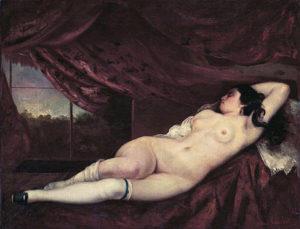 Femme nue Couchee / Naakte vrouw slaapt (1862) - Gustave Courbet