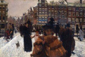 De Singelbrug bij de Paleisstraat in Amsterdam, George Hendrik Breitner, 1896
