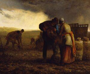 La Récolte des pommes de terre / De aardappeloogst (1855) - Jean-François Millet
