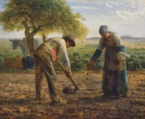 Les Planteurs de pommes de terre / De aardappelplanters (c. 1861) - Jean-François Millet