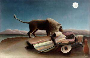 La Bohémienne endormie / De slapende zwerver (1897) - Henri Rousseau