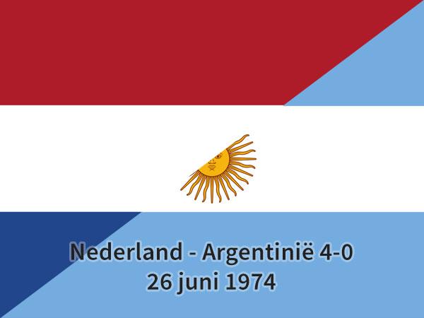 Nederland – Argentinië 4-0, 26 juni 1974