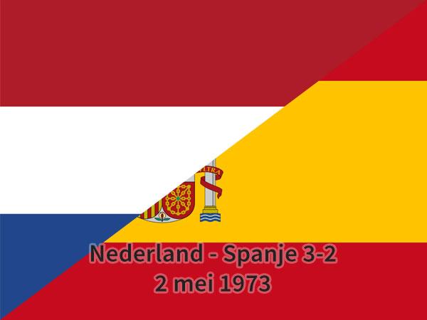 Nederland – Spanje 3-2, 2 mei 1973