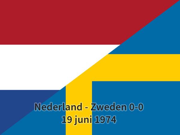 Nederland – Zweden 0-0, 19 juni 1974
