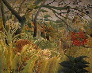 Tigre dans une tempête tropicale, ook wel Surpris! / Storm Tijger in een tropische storm (Verrast!) (1891) - Henri Rousseau
