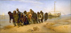 Barge Haulers on the Volga / De Wolgaslepers (1870-73) - Ilya Repin