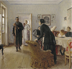 They Did Not Expect Him / Onverwacht (1883-1888) - Ilya Repin