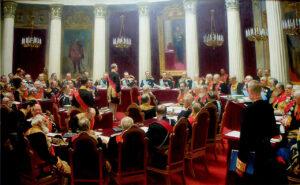 Ceremonial Sitting of the State Council on 5 May 1901 Marking the Centenary of its Foundation (1901-1904) / De eeuwvergadering van de Staatsraad in het Mariinskipaleis op 5 mei 1901 - Ilya Repin