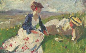 Zwei Frauen am Berg / Twee vrouwen op een heuvel (1906) - Franz Marc