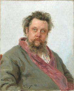 Portrait of Composer Modest Mussorgsky / Portret van componist Modest Mussorgsky (1881) - Ilya Repin