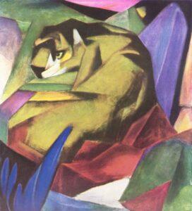 Der Tiger / De tijger (1912) - Franz Marc