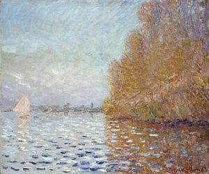Le Bassin d'Argenteuil avec un voilier / Bassin met zeilboot bij Argenteuil (1874) - Claude Monet