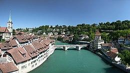 De Aare in Bern