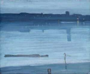 Nocturne: Blue and Silver – Chelsea (Ci. 1871) - James McNeill Whistler