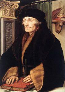 Desiderius Erasmus door Hans Holbein de Jonge