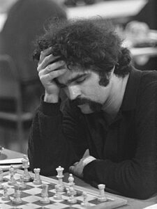 Tim Krabbé tijdens het Hoogovens Schaaktoernooi in 1969