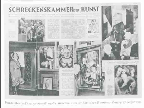 Voorbeelden van entartete kunstenaars volgens de Nazi's