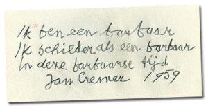 Jan Cremer: de barbaar