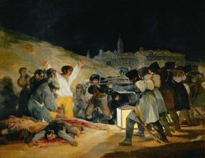 Beroemdste schilderijen van Francisco Goya : De derde mei in Madrid / De executies / El 3 de mayo en Madrid / Los fusilamientos (1814) - Francisco Goya