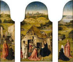 Driekoningen-drieluik / The Adoration of the Magi (ca. 1495) - Jeroen Bosch