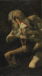 Saturnus die zijn zoon verslindt / Saturno devorando a su hijo