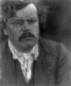 Gilbert Keith Chesterton, 1905, door Alvin Langdon Coburn