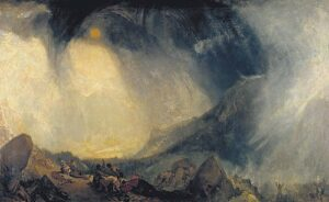 Hannibal and his Men crossing the Alps (1812) - J.M.W. Turner