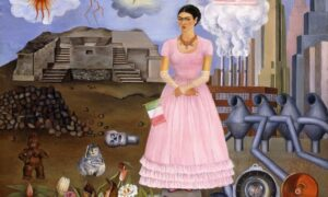 Zelfportret op de grens tussen Mexico en de Verenigde Staten / Self-Portrait on the Border between Mexico and the United States (1932) - Frida Kahlo