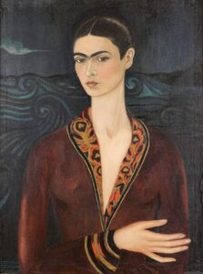 Zelfportret in een fluwelen jurk / Self-Portrait in a Velvet Dress (1926) - Frida Kahlo