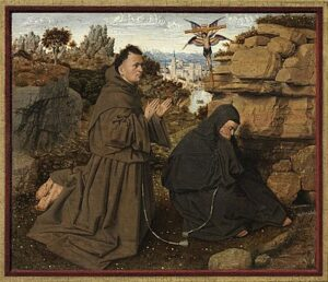 Franciscus van Assisi ontvangt de stigmata (ca. 1430-1432) - Jan van Eyck